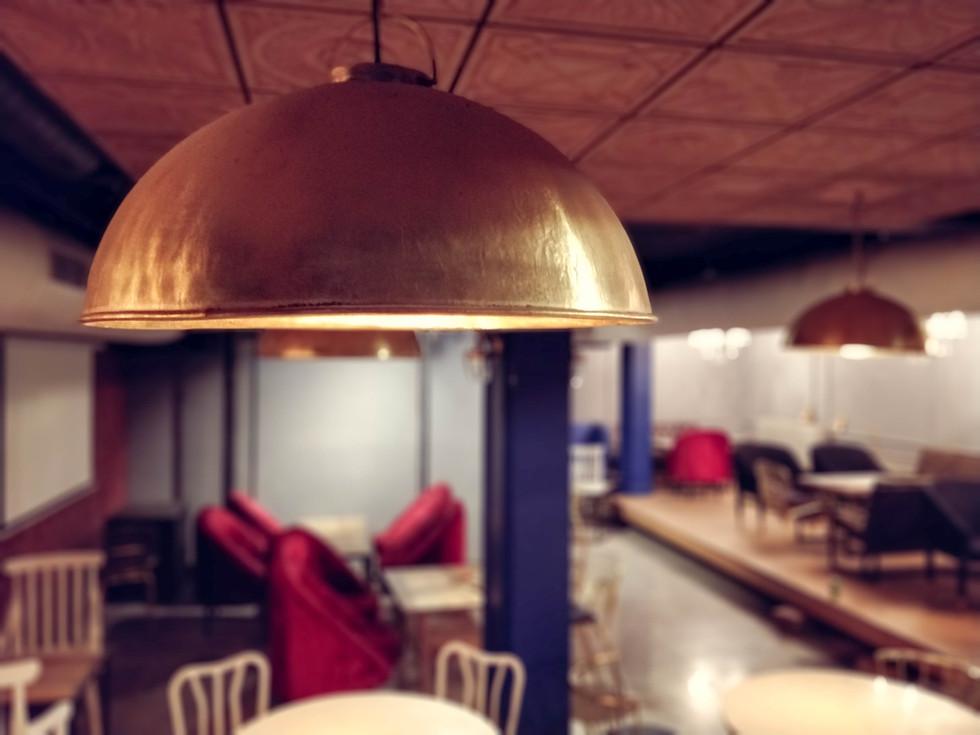 Customized brass light fixture