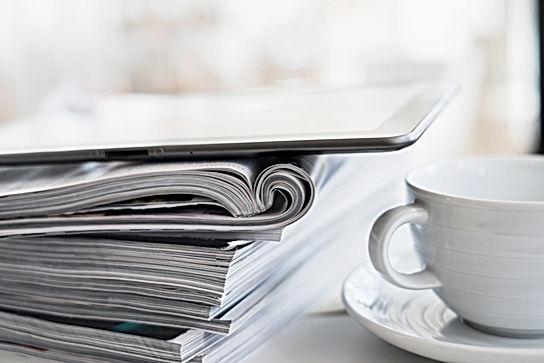 コーヒーや雑誌
