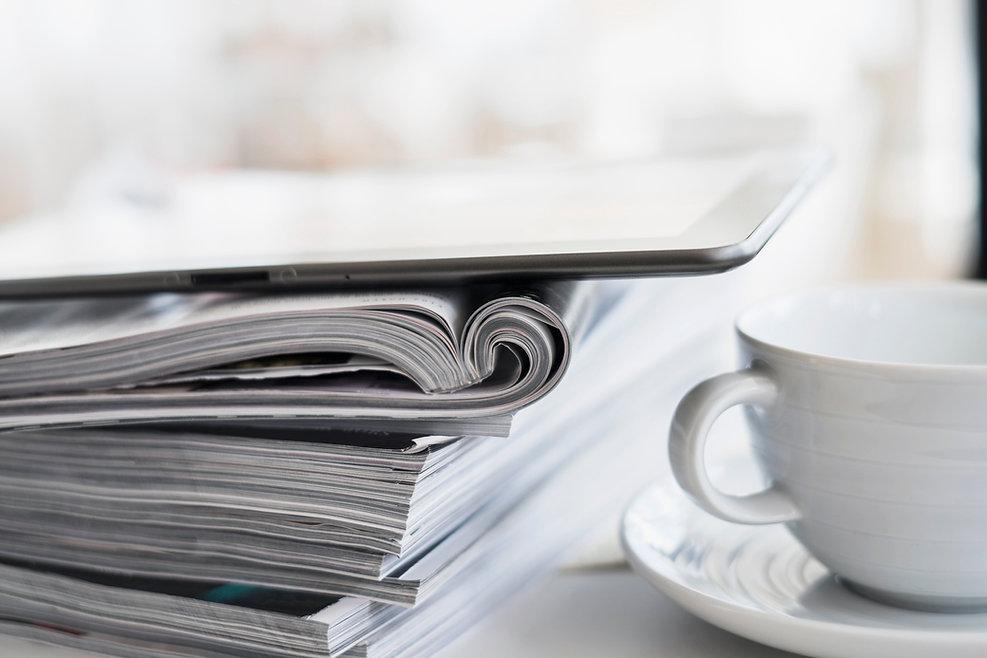 咖啡和雜誌