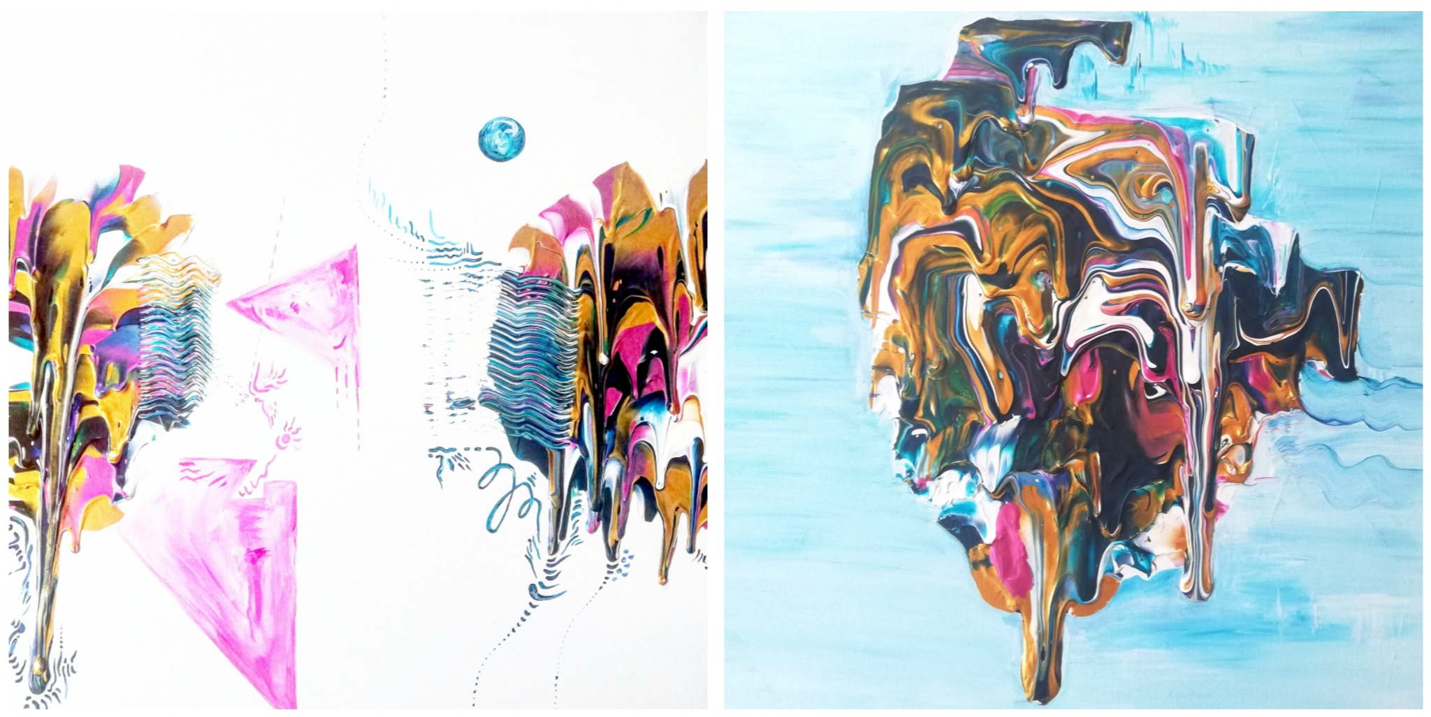 'It's a phase', acrylic on canvases,  50