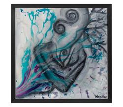 'Fullfilment' resin and oil on canvas, 5