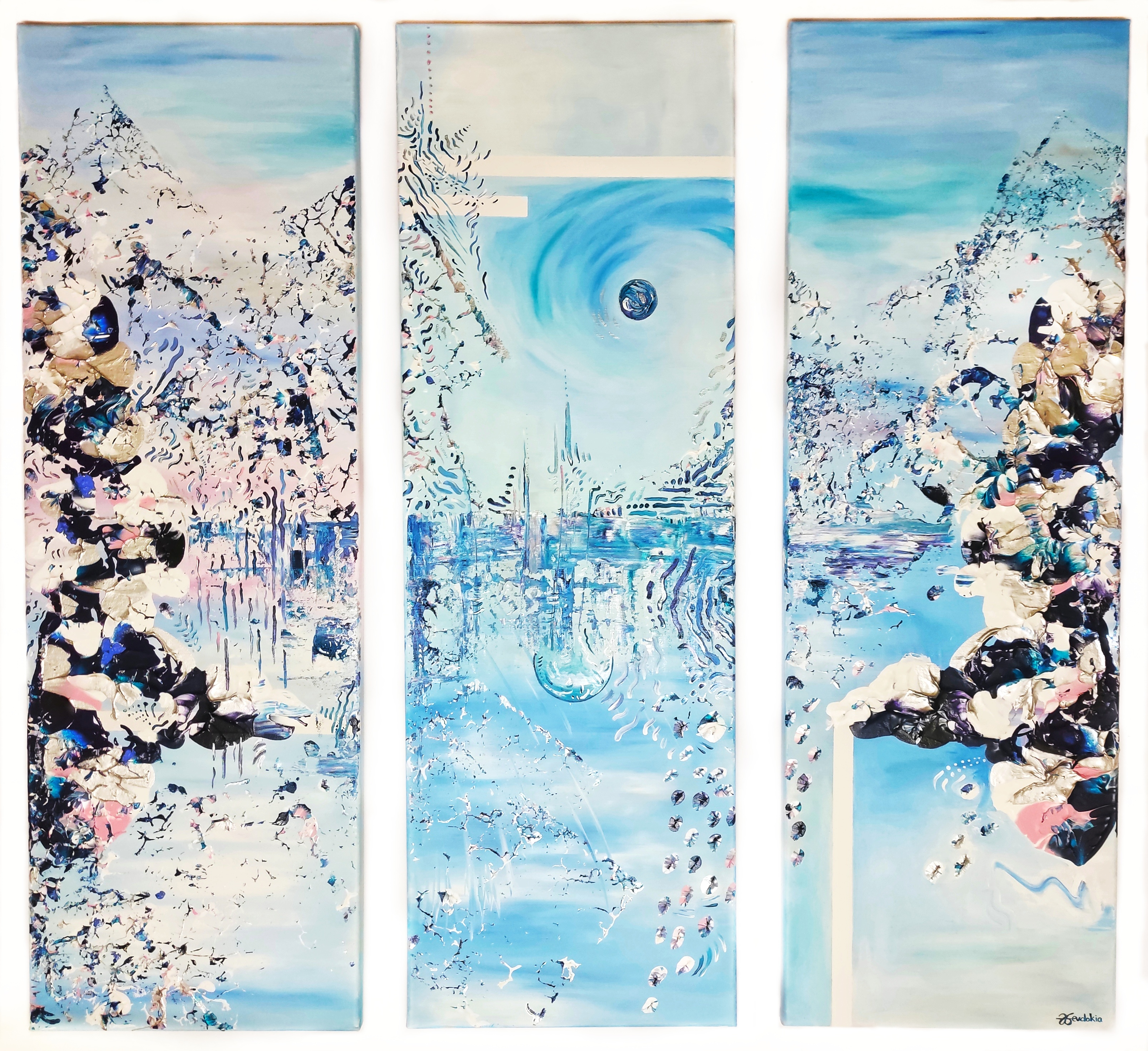 WINTER LANDSCAPE - 30X90CM EACH - ACRYLI