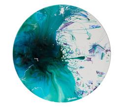 'Circular home', resin and acrylic paint