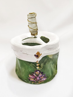 Ashtray; Resin sculpture with acrylic pa