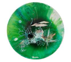 Polyphony, resin and acrylic on canvas,