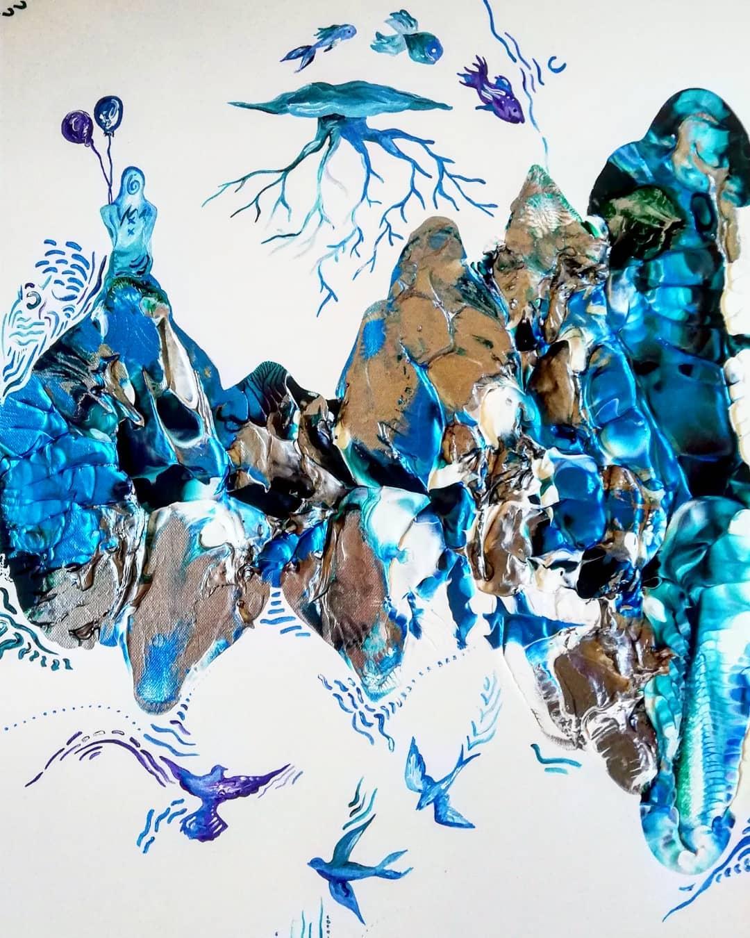 Evdokia Georgiou; 'Fairytale', Acrylic o