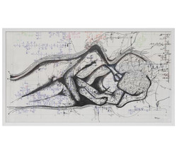 'Out of route', line drawing on paper fr