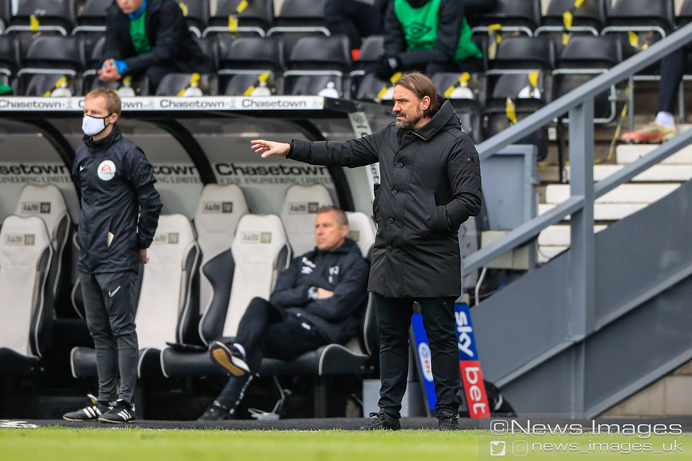 Daniel Farke the Norwich City Manager on the sidelines during the game