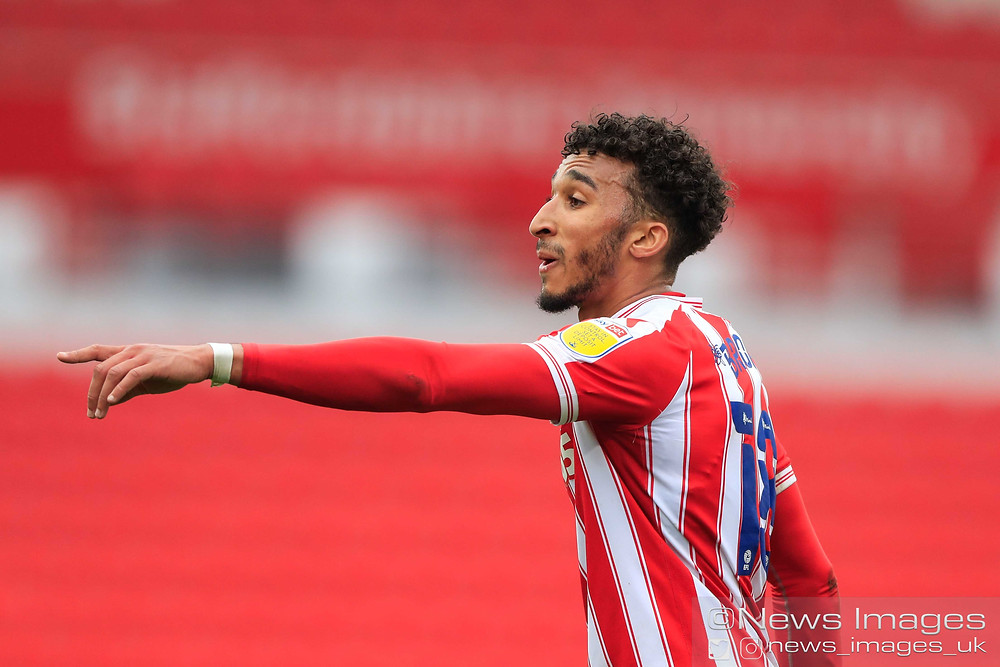 Jacob Brown #18 of Stoke City in action during the game