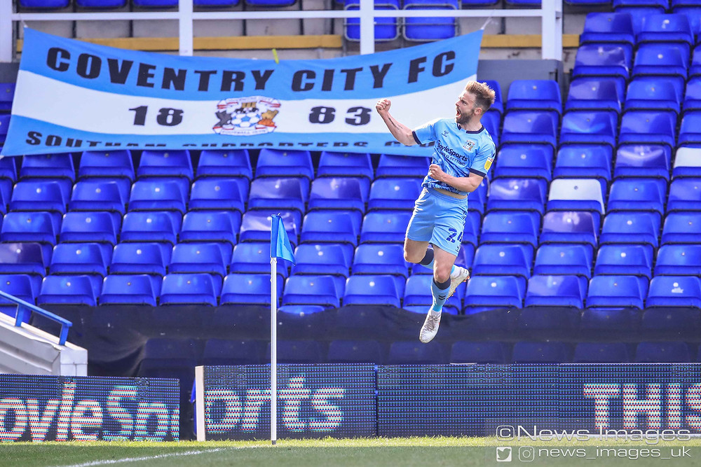 Matthew Godden #24 of Coventry City celebrates his goal to make it 2-0