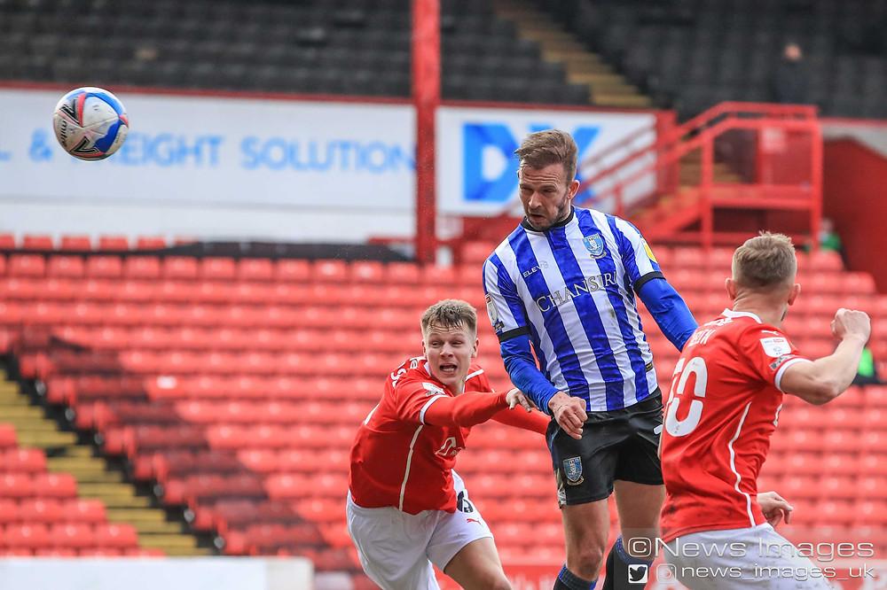 Jordan Rhodes #20 of Sheffield Wednesday scores to make it 0-1