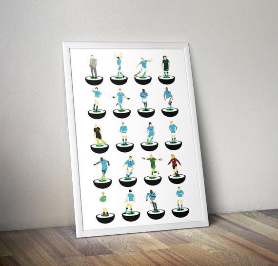 Manchester City A3 Print