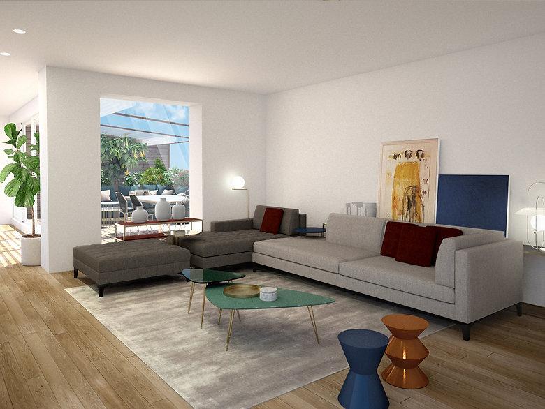 progetto, citylife, attico, appartamento, milano, residenza immobiliare, interior design, architettura interni, arredamento, finiture, materiali, living, marzia moretti, morettilab