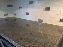 Concrete & Custom Backsplash