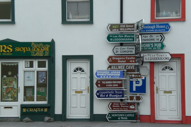 ballyvaughan-signposts-funny