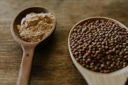 Our lentils milled into lentil flour