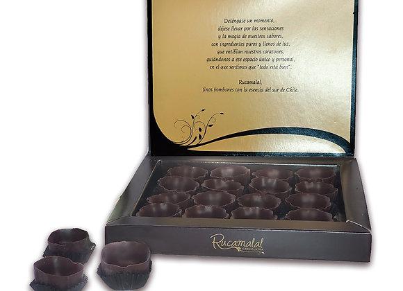 Caja de vasitos de chocolate