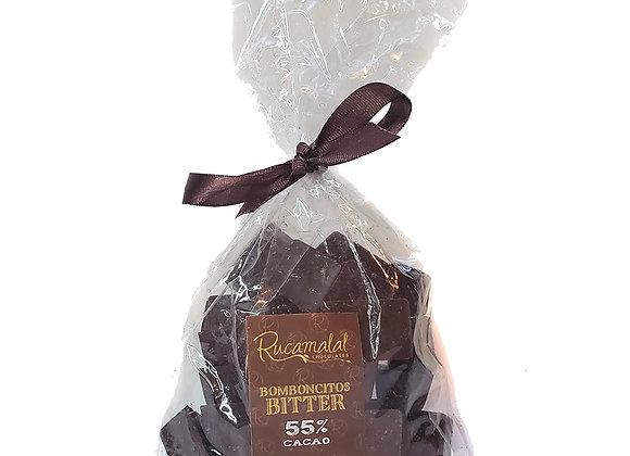 Bomboncitos macizos de chocolate bitter 55%