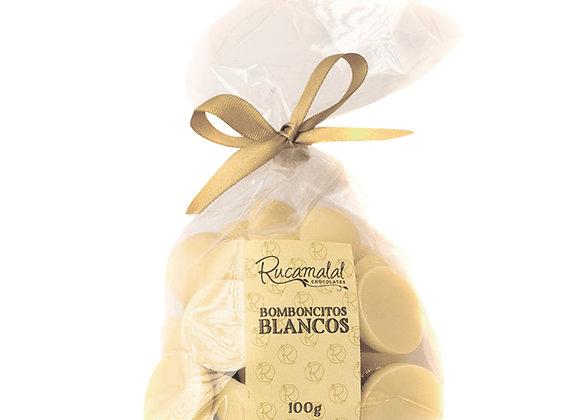 Bomboncitos macizos de chocolate blanco