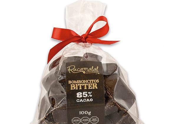 Bomboncitos macizos de chocolate bitter 85%