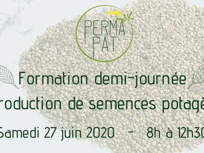 """Nouvelle date pour la Formation """"Reproduction de semences potagères"""" le 27 juin"""