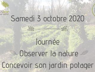 """Nouvelle date pour la journée """"Observer la nature, concevoir son jardin potager"""" - 3 octob"""