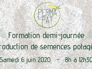 """Formation demi-journée """"Reproduction de semences potagères"""" 6 juin 8h à Thuir, 66300."""