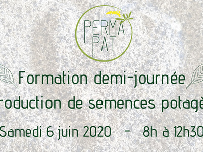 "Formation demi-journée ""Reproduction de semences potagères"" 6 juin 8h à Thuir, 66300."