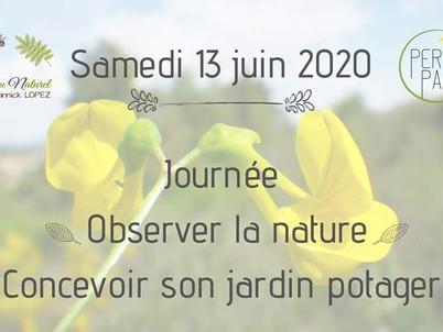 """Journées """"Observer la nature, concevoir son jardin potager"""" dès juin à Thuir, 66300."""