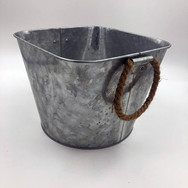 Metal and Rope Buckets