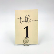 Ivory + Wine Table Numbers