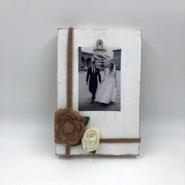 Wood and Burlap Frame