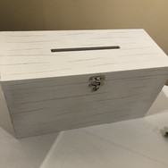 White Wooden Card Box