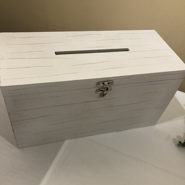 White Wooden Card Box