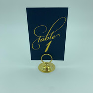 Blue/Gold Table Numbers