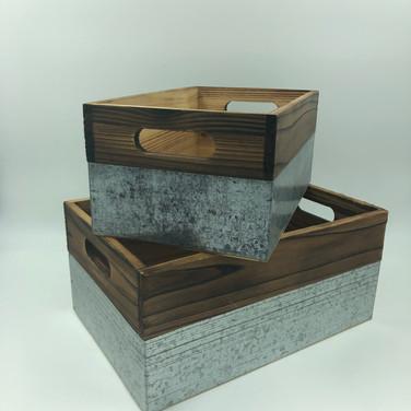 Wood/Metal Bins