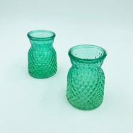 Small Green Vases