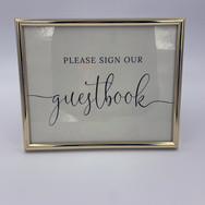 Ivory + Wine Guestbook Sign