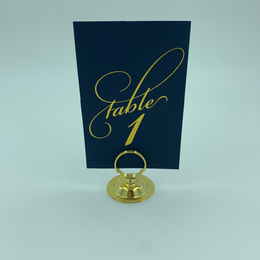 Gold and Navy Table Numbers