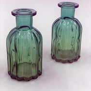 Small Blue Green Vases