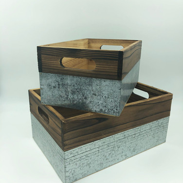 Wood and Metal Bins