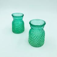 Green Short Vases