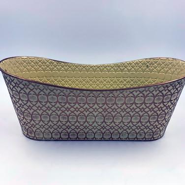 Gold Patterned Metal Basket