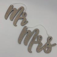 Gold Glitter Mr + Mrs