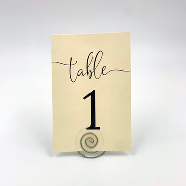 Wine and Ivory Table Numbers