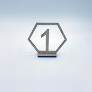 Wooden Hexagon Table Numbers