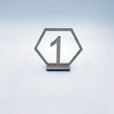 Wooden Hexagon Table Numbers