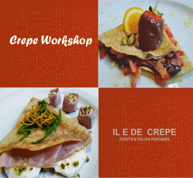 crepe workshop, online cooking class lon