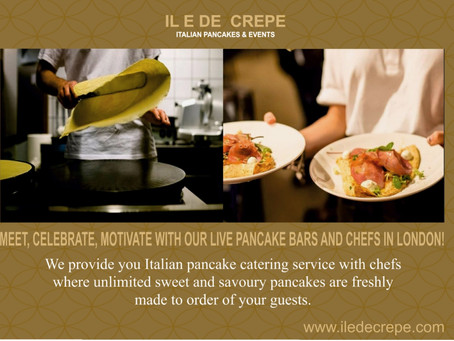 BESPOKE PANCAKE - CREPE CATERING SERVICE FOR YOUR EVENTS / PARTIES IN LONDON
