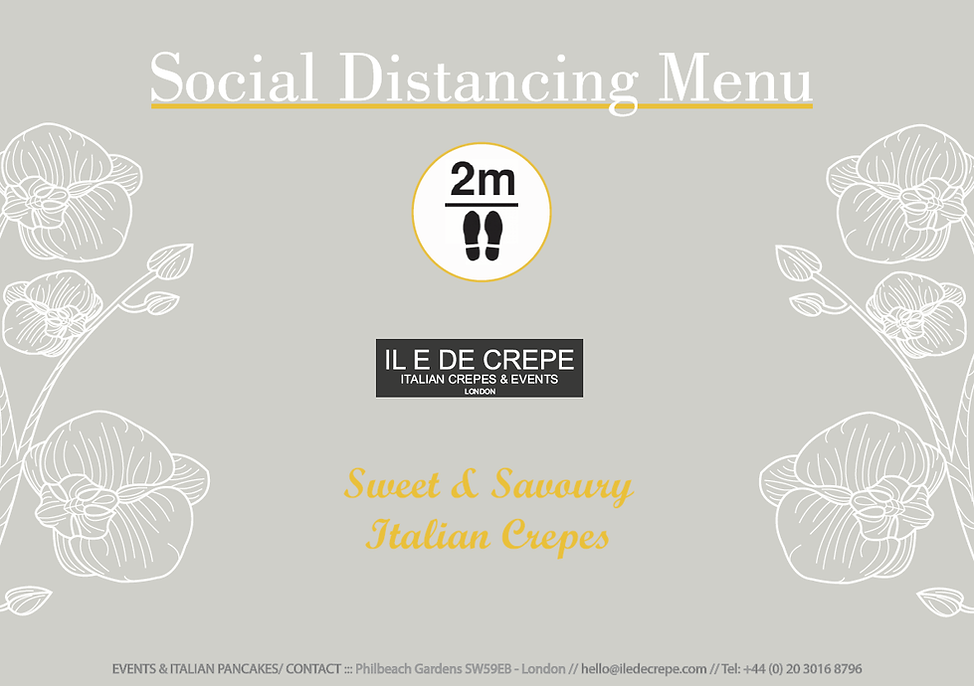 Social Distancing Catering Menu 1 London